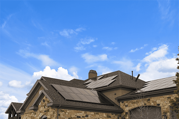 solar panel on the Vancouver home's roof